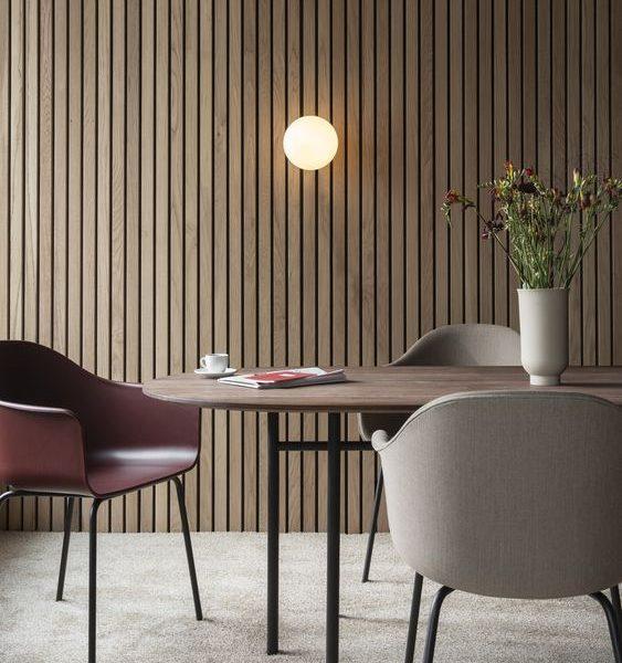 houten wand latten interieur